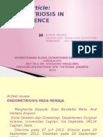 Jurnal Endometriosis in adolescence