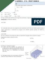 Avaliação cinética química
