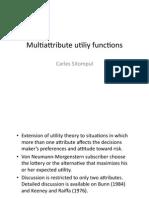 Multiattribute Utility Functions