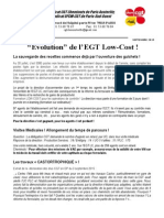 """Evolution"" de l'EGT Low-Cost !"