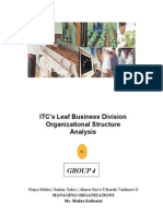 ITC Leaf Business Division Analysis