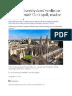 Oxford University Dons