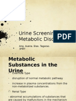 Urine Screening for Metabolic Disorders