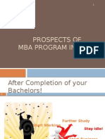 Prospects of MBA Program