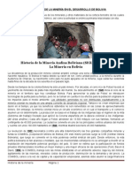 La Importancia de La Minera en El Desarrollo de Bolivia