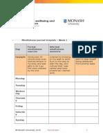 Mindfulness Journal Template