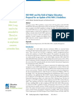 Iso 9001 and the Field of Higher Education Proposal for an Update of the Iwa 2 Guidelines