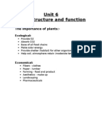 Unit 6 Plant Function and Structure