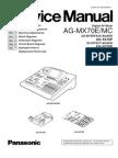 Panasonic Ag-mx70e Mc Digital Av Mixer