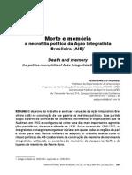 Morte e memória a necrofilia política da Ação Integralista Brasileira (AIB)