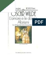 OscarWilde-Lamoreeledonne,Aforismi