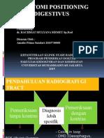 Radioantomi Positioning Traktus Digestivus