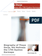 Biography of the 17th Karmapa Thaye Dorje