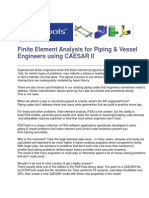 Finite Element Analysis for Piping