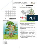 3ª P.D - 2014 - (3º Ano E.F - Ciências)- (Blog Do Prof. Warles)