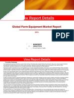 Global Farm Equipment Market Report