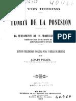 Teoria de la posesión Ihering