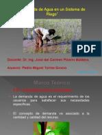 Demanda de Agua en Un Sistema de Riego.. Trabajo 2
