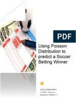 Using Poisson Distribution to predict a Soccer Betting Winner