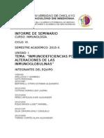Seminario 1 Inmunodeficiencias Por Alteraciones de Las Inmunoglobulinas