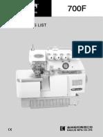 700f Parts List