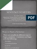 sentencestarters student
