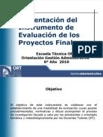 Protocolos de Evaluación de Proyecto Final