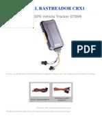 Manual Rastreador Crx1 Portugues