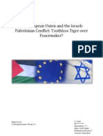 The European Union and the Israeli- Palestinian Conflict