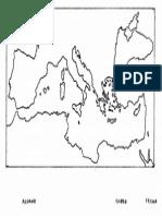 Mapa Mudo Del Mediterráneo