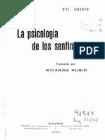 La psicología de los sentimientos
