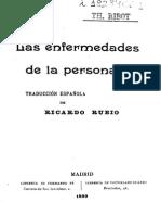 Las enfermedades de la personalidad