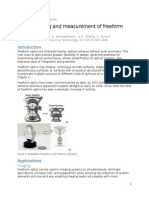 Technical Report Synopsis - Manufacturing and Measurement of Freeform Optics