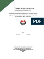 Laporan Hasil Pelaksanaan Program Pembelajaran Individual (Nurjannah)