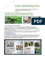 Pn50c450b1dxza- How to Activate Power and Logic Board Test Patterns Without Main Board