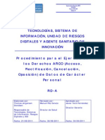 RD- B Procedimiento Para El Ejercicio de Los Derechos ARCO de Carácter Personal