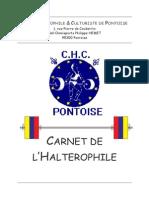 Carnet Halterophilie