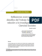 Reflexiones acerca de los desafíos del Trabajo Social en relación a la investigación en Ciencias Sociales1