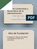 Escuela Conductista y Burocrática de La Administración