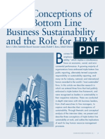 Three Conceptions of Triple Bottom Line Business Sustainability and the Role for HRM