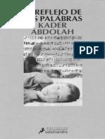 El Reflejo de Las Palabras - Abdolah_ Kader