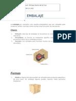 Tipos, Clases y Formas de Embalaje