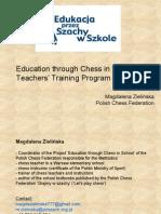 Chess Teachers Training Program in Poland