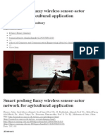 Smart Prolong Fuzzy Wireless Sensor-Actor Network for Agricultural Application