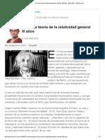 Una Idea Genial_ La Teoría de La Relatividad General Cumple 100 Años - 30.03.2015 - Lanacion