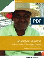 Solomon Islands - Gender and Investment Climate Reform Assessment