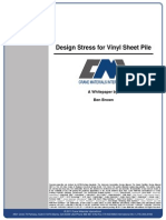 Design Stress for Vinyl Sheet Pile