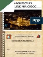 Arquitectura Republicana Del Cusco