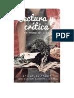 Williams Raymond - Lectura Y Critica