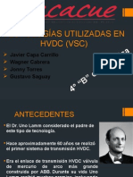 Tecnologías Utilizadas en Hvdc (Vsc)Javier Capa